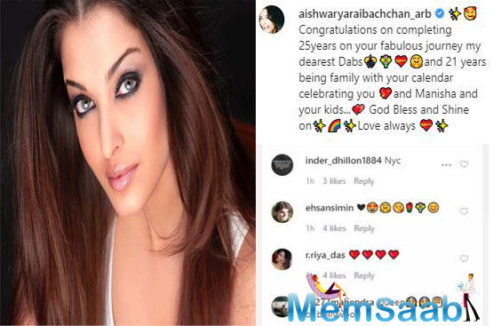 Recently, Aishwarya rai Bachchan took to her social media handle to share her photo from the calendar shoot and you can't miss it.