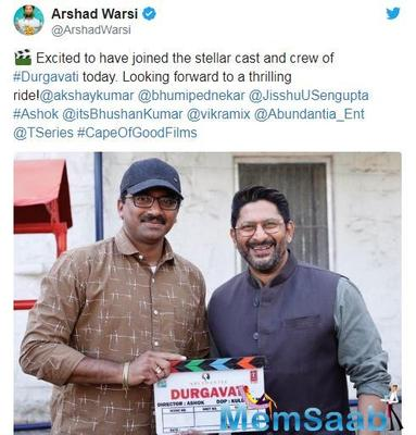Arshad Warsi joins star cast of much-awaited thriller Durgavati
