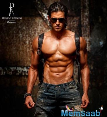 Hrithik, 46, took to Instagram to share his photo from Daboo Ratnani's new calendar. He is seen showing off his six-pack abs.