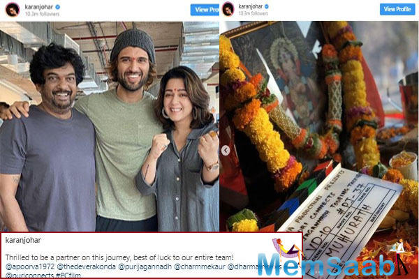 This venture is produced by Karan Johar, who had made a grand announcement of the film on social media and had also shared pictures from the mahurat shot.