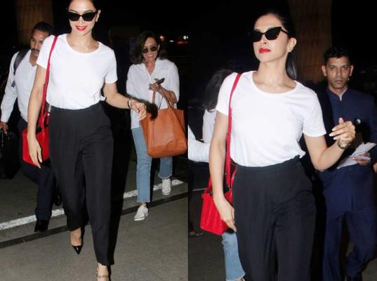 Deepika was recently snapped at the airport