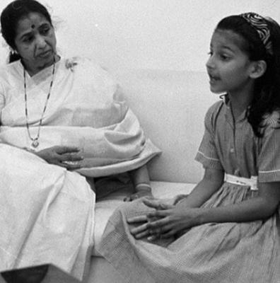 Shruti had sung her first song at the age of six
