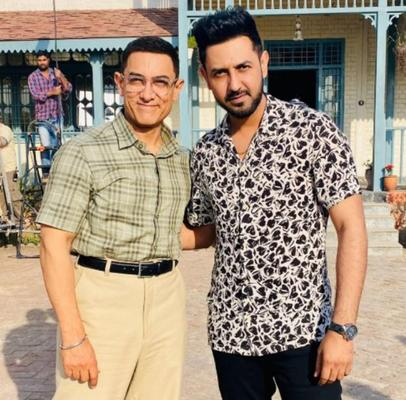 Aamir Khan poses with Gippy Grewal's son Gurbaaz and the result is adorable