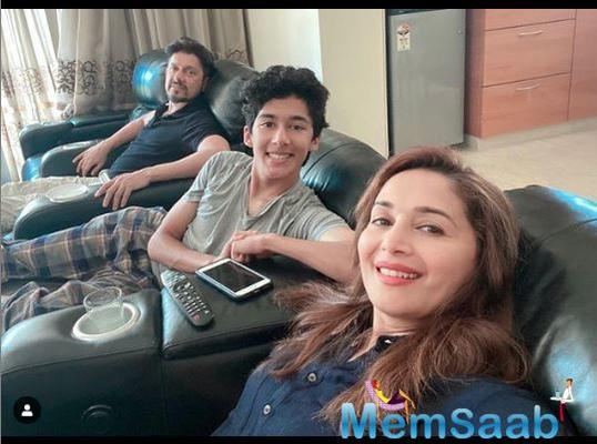 Madhuri Dixit-Nene too is making the most of her free time by spending it with her husband Sriram Nene and her children.
