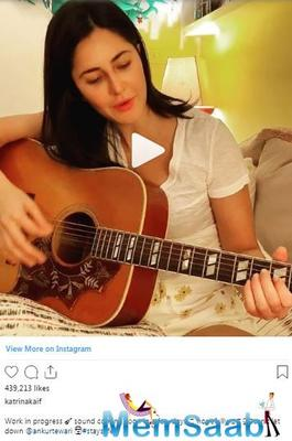 Katrina Kaif spends quarantine time with learning guitar