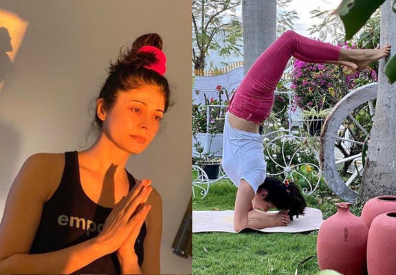 Pooja is often seen sharing pictures of working out with her fans amidst lockdown