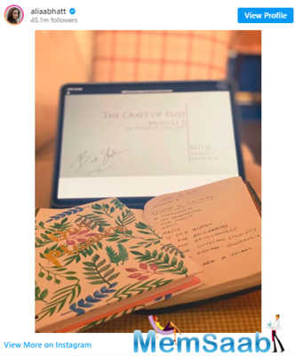 On Monday, the Bollywood heartthrob took to Instagram and posted a picture in which she is seen penning notes. The book