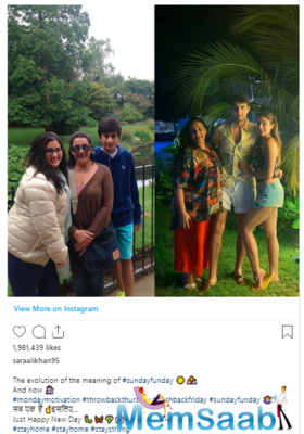Sara Ali Khan shares another terrific throwback picture, shows us the evolution of #sundayfunday