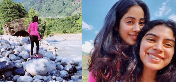Janhvi posted a picture which showed her standing on a rocky riverside