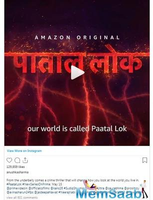 The web-show will be streamed on May 15, 2020, only on Amazon Prime Videos.