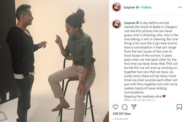 We shall surprise each other not just with films together but with more useless topics of never ending conversations: Taapsee Pannu
