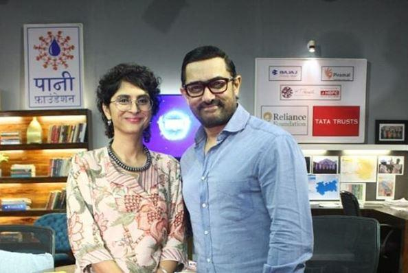 Aamir on Sunday appeared with wife, director-producer Kiran Rao, at the I for India concert