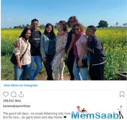 The actress, who has been acing her social media game, shared a cute throwback photo of herself striking a pose with her team