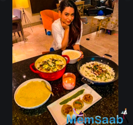 Soundarya Sharma prepares Eid delicacies in LA
