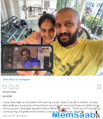 Recently, Genelia and her husband Riteish Deshmukh was in news for their workout post.