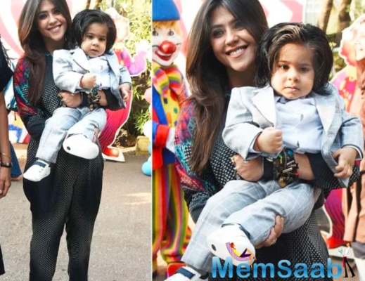 Single parenting can be tough, but Tusshar says that they function like any other family.