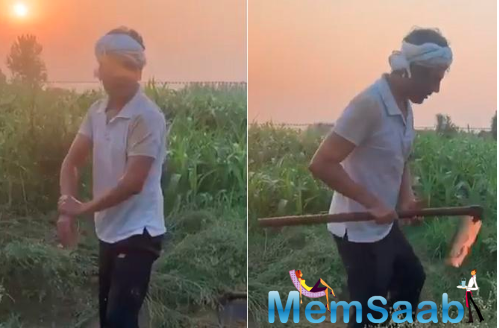 Speaking of which, Nawazuddin Siddiqui has posted a video where the actor is seen cleaning his hands and feet after a worked up day at the farm.