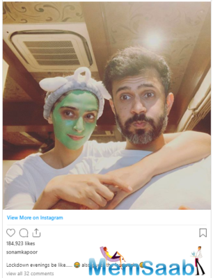 Sonam Kapoor shares a sweet selfie with husband Anand Ahuja; captions,