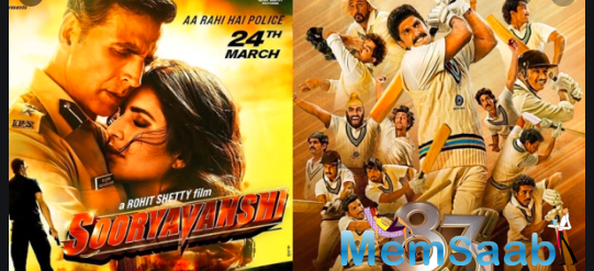 At the outset, the makers of Sooryavanshi and 83 had stated that the films would not bypass a theatrical release even as a cloud of uncertainty hung over the reopening of cinemas.