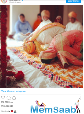 She didn't write a long caption, only wrote 'Gratitude'.