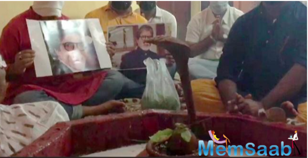 Fans Perform 'Yagya' In wb's asansol for Amitabh Bachchan's recovery from Covid-19