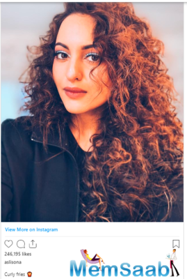 Sonakshi Sinha shares a picture with wavy hair; celebs react
