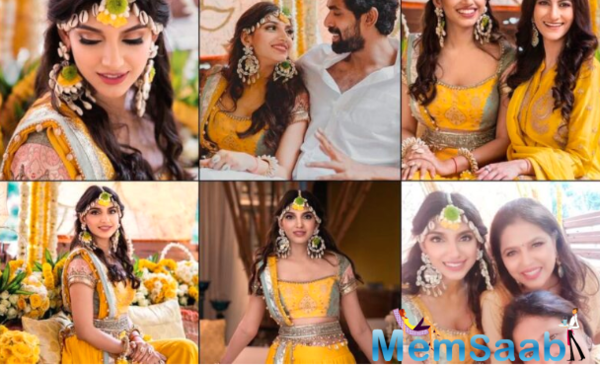 Rana Daggubati and Miheeka Bajaj's haldi ceremony was performed in Hyderabad, see here the pics