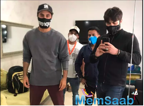 Ranbir Kapoor gets back to work with a cool face mask; says never imagined would have to celebrate birthday with social distancing