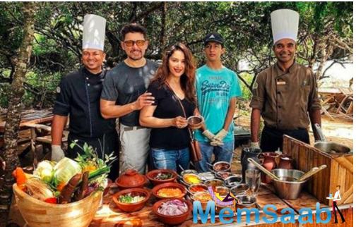 Madhuri Dixit Nene tries dishing out Sri Lankan Cuisine