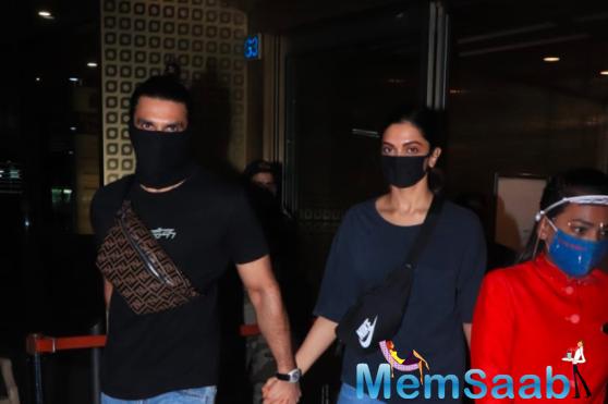 Ranveer Singh and Deepika Padukone return to mumbai after visiting her family in Bengaluru