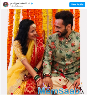 Punit Pathak was rumoured to be in a relationship with a popular television actor Jasmin Bhasin.