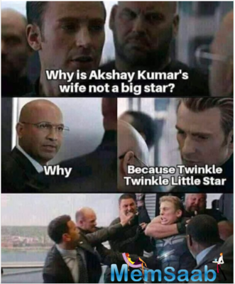 Twinkle Khanna shares a meme on 'why is Akshay Kumar's wife not a big star?', Has a funny reply