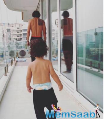 Arjun Rampal shares an adorable twinning moment with son Arik