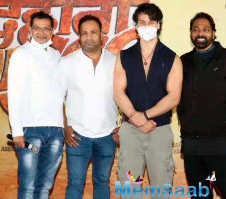 Tiger Shroff attends Ganesh Acharya's film's Mahurat and poster launch