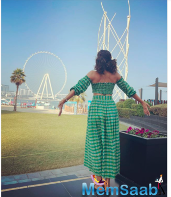See pic: Taapsee Pannu reaches Dubai for 'Holiday' before getting 'on her mark' with 'Rashmi Rocket' shoot