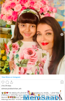 Aishwarya Rai Bachchan gives a glimpse of her birthday celebration with Aaradhya; Thanks fans for their wishes
