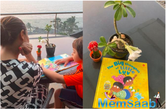 Gauri Khan shares a picture of an 'All grown up' AbRam Khan reading Karan Johar's book, all by himself.