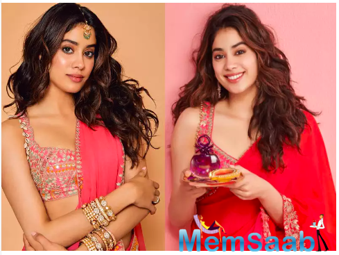 Janhvi Kapoor's go-to colour for the festive season is pink and THESE photos are proof
