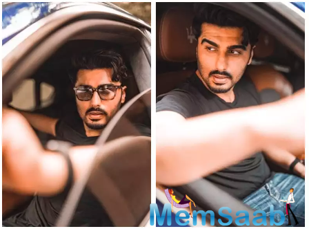 Arjun Kapoor gets goofy as he shares a series of pictures from inside his car