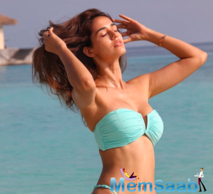 Wind in her hair! Disha Patani stuns in a blue bikini in her latest post