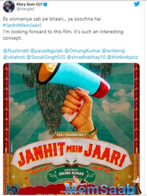 Nushrratt Bharuccha and Raaj Shaandilyaa come together for Omung Kumar's Janhit Mein Jaari
