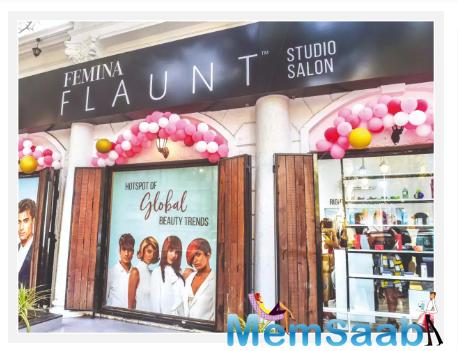 Zareen Khan inaugurates Femina FLAUNT studio salon in Powai