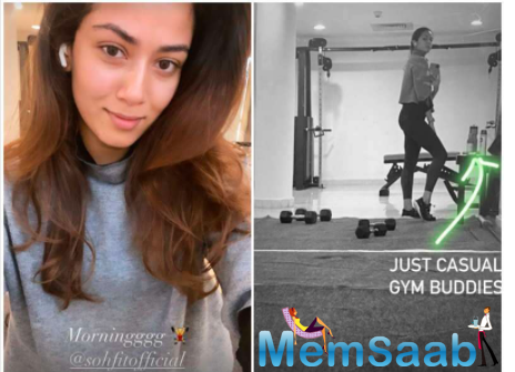 This time the gorgeous diva took to her Instagram handle to share snippets from her gymming session.