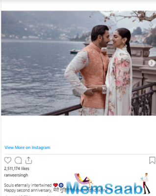 Deepika Padukone's mushy comment on hubby Ranveer Singh's post grabs everyone's attention