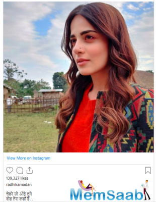 Radhika Madan shares a stunning picture from her recent adventure