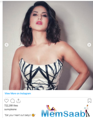 Sunny Leone stuns in white as she exudes oomph in the latest post