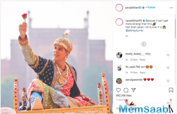 Akshay Kumar dons Shah Jahan avatar for Atrangi Re
