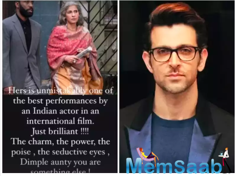Hrithik Roshan is all praise for Dimple Kapadia's performance in Christopher Nolan's 'Tenet'