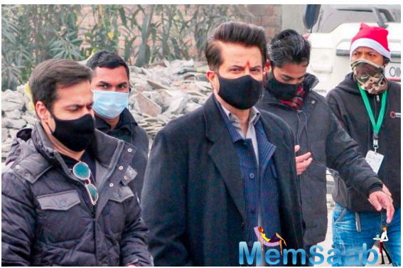 Anil Kapoor heads for a brisk walk as he skips the workout