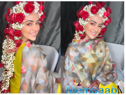Sana Khan shares priceless post-wedding photos with her hair covered in jasmine and roses